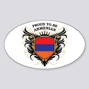 Proud to be Armenian Oval Sticker