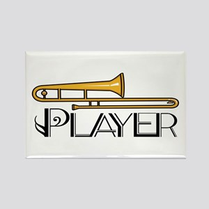 Trombone Player Rectangle Magnet