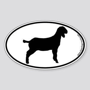 Goat SILHOUETTE Oval Sticker