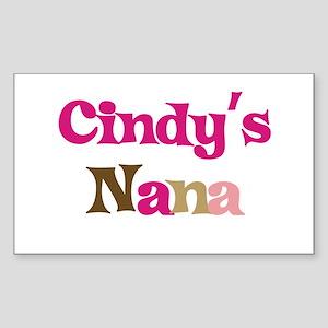 Cindy's Nana Rectangle Sticker