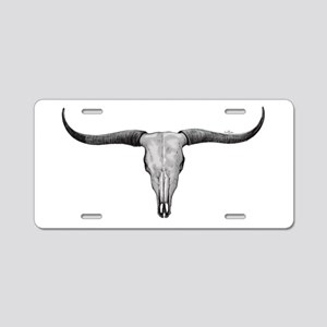 Longhorn Scull Aluminum License Plate