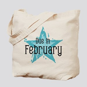 Blue Star Due In February Tote Bag