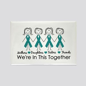 We're In This Together (Ovarian) Rectangle Magnet