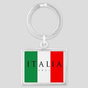 Italy 1861 Landscape Keychain