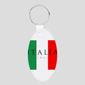 Italy 1861 Aluminum Oval Keychain