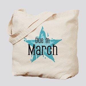 Blue Star Due In March Tote Bag