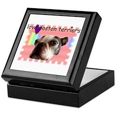 LOVE MY BOSTON TERRIER Keepsake Box