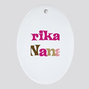 Erika's Nana Oval Ornament