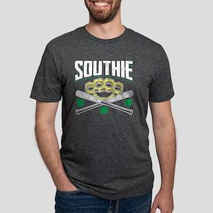Southie Baseball Bats Brass Knuckle Fist S T-Shirt