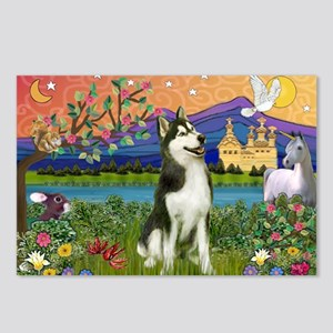 Siberian Husky Fantasyland Postcards (Package of 8
