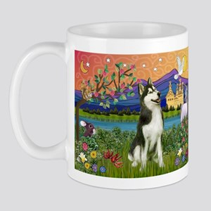 Siberian Husky Fantasyland Mug