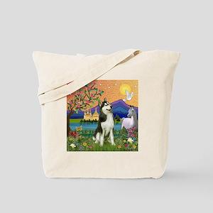 Siberian Husky Fantasyland Tote Bag