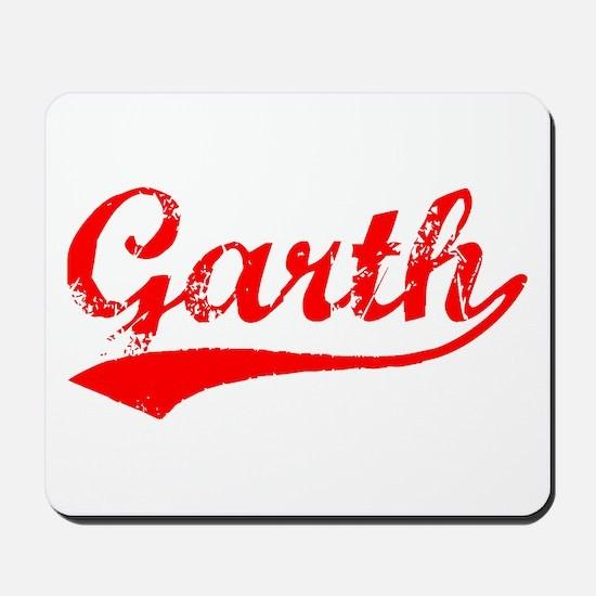 Vintage Garth (Red) Mousepad