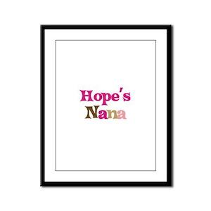 Hope's Nana Framed Panel Print