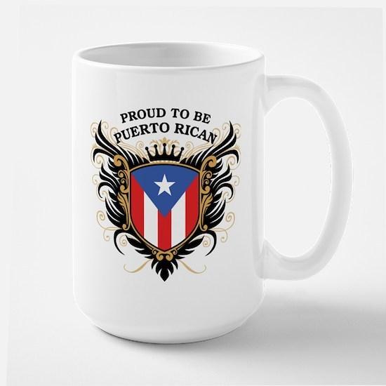 Proud to be Puerto Rican Large Mug