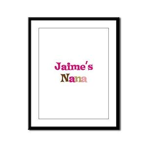 Jaime's Nana Framed Panel Print