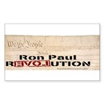 Ron Paul Preamble Rectangle Sticker