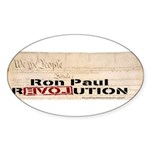 Ron Paul Preamble Oval Sticker (50 pk)