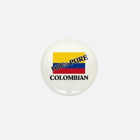 100 Percent COLOMBIAN Mini Button