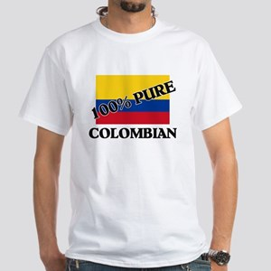 100 Percent COLOMBIAN White T-Shirt