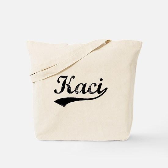 Vintage Kaci (Black) Tote Bag