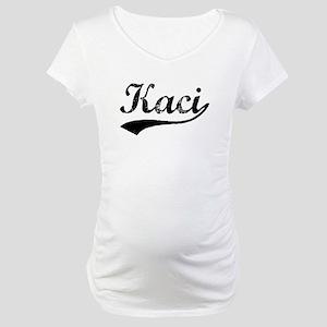 Vintage Kaci (Black) Maternity T-Shirt