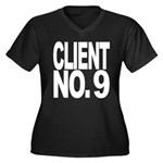 Client No. 9 Women's Plus Size V-Neck Dark T-Shirt