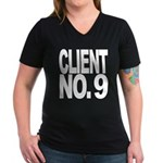 Client No. 9 Women's V-Neck Dark T-Shirt
