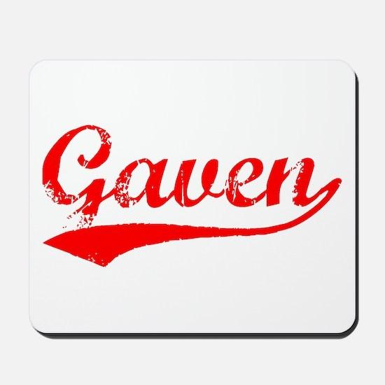Vintage Gaven (Red) Mousepad
