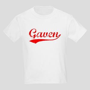 Vintage Gaven (Red) Kids Light T-Shirt