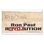 Ron Paul Preamble-C Rectangle Sticker