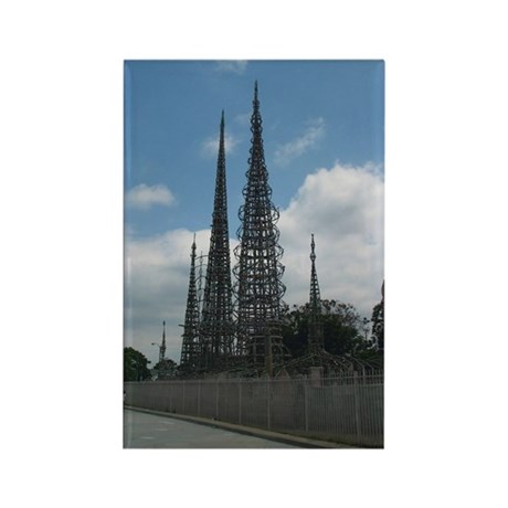Watts Tower Rectangle Magnet (100 pack)