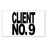 Client No. 9 Rectangle Sticker 10 pk)