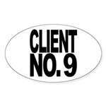 Client No. 9 Oval Sticker (50 pk)