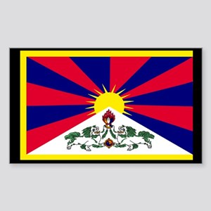 Tibetan Flag Rectangle Sticker