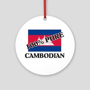 100 Percent CAMBODIAN Ornament (Round)