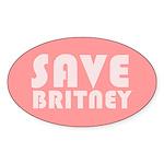SAVE BRITNEY Oval Sticker (10 pk)