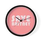 SAVE BRITNEY Wall Clock