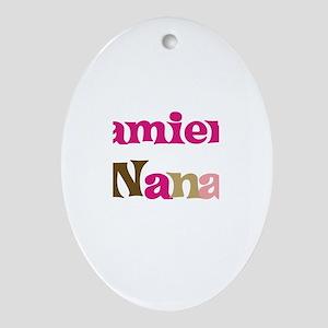 Damien's Nana Oval Ornament