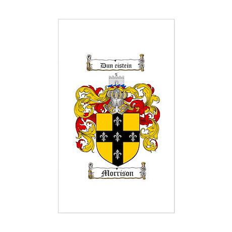 Morrison Family Crest Rectangle Sticker