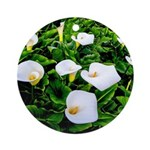 Field of Calla Lily Flowers Round Ornament