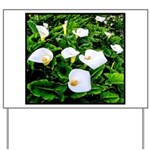 Field of Calla Lily Flowers Yard Sign
