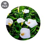 "Field of Calla Lily Flowers 3.5"" Button (10 pack)"