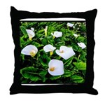 Field of Calla Lily Flowers Throw Pillow