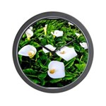 Field of Calla Lily Flowers Wall Clock