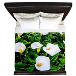 Field of Calla Lily Flowers King Duvet