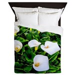 Field of Calla Lily Flowers Queen Duvet