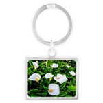 Field of Calla Lily Flowers Keychains