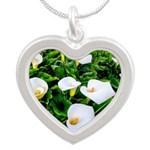 Field of Calla Lily Flowers Necklaces
