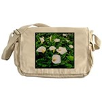 Field of Calla Lily Flowers Messenger Bag